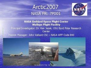 Arctic 2007 NASA FR 7 P 001 NASA