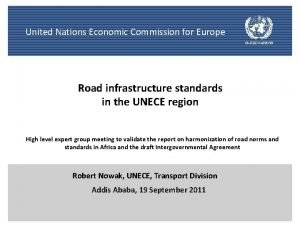 United Nations Economic Commission for Europe Road infrastructure