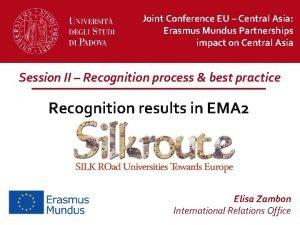 Joint Conference EU Central Asia Erasmus Mundus Partnerships
