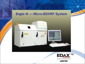 Eagle III MicroEDXRF System Eagle System Schematic XRF