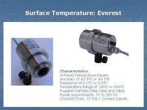 Surface Temperature Everest Characteristics Infrared Temperature Sensor Accuracy