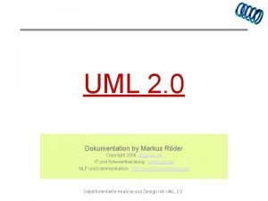 UML 2 0 Dokumentation by Markus Rder Copyright