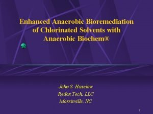 Enhanced Anaerobic Bioremediation of Chlorinated Solvents with Anaerobic