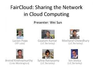 Fair Cloud Sharing the Network in Cloud Computing