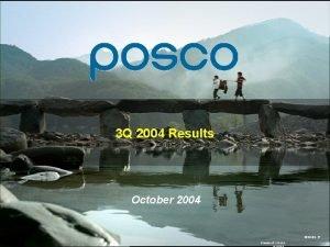 3 Q 2004 Results October 2004 2020 09