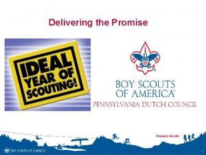 Delivering the Promise 1 Why Plan Whats the