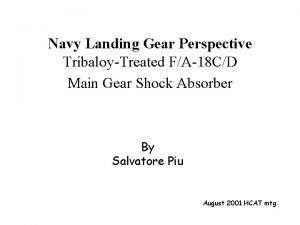 Navy Landing Gear Perspective TribaloyTreated FA18 CD Main