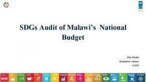 SDGs Audit of Malawis National Budget Alka Bhatia