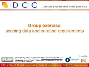 because good research needs good data Group exercise