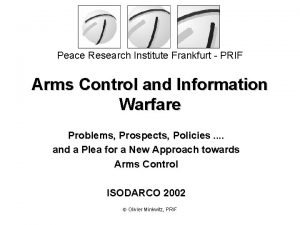 Peace Research Institute Frankfurt PRIF Arms Control and