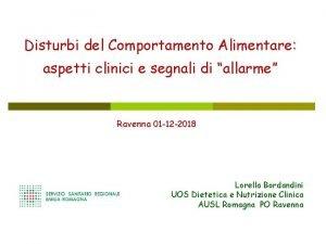 Disturbi del Comportamento Alimentare aspetti clinici e segnali