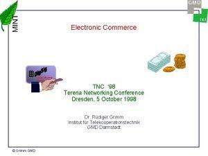 Electronic Commerce Uwe Muster Hamburg TNC 98 Terena