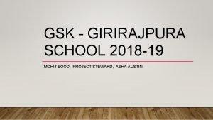 GSK GIRIRAJPURA SCHOOL 2018 19 MOHIT SOOD PROJECT