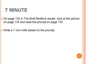 7 MINUTE On page 135 in The Brief