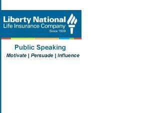 Public Speaking Motivate Persuade Influence Public Speaking Introduction