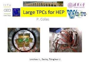 Large TPCs for HEP P Colas Lanzhou U