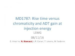 MD 1787 Rise time versus chromaticity and ADT