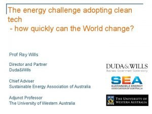 The energy challenge adopting clean tech how quickly
