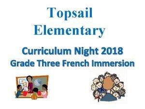 Topsail Elementary Curriculum Night 2018 Grade Three French