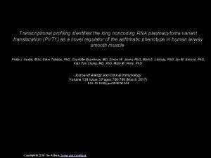Transcriptional profiling identifies the long noncoding RNA plasmacytoma