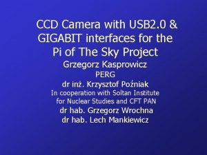 CCD Camera with USB 2 0 GIGABIT interfaces