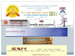 Department of South Asia Studies Center for South