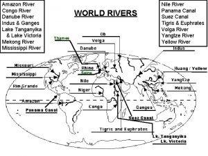 Amazon River Congo River Danube River Indus Ganges