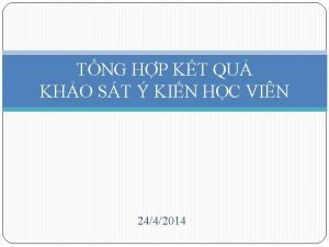 TNG HP KT QU KHO ST KIN HC