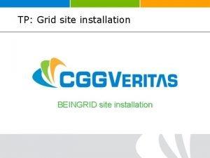 TP Grid site installation BEINGRID site installation TP