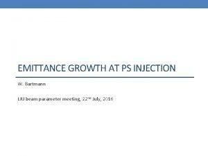 EMITTANCE GROWTH AT PS INJECTION W Bartmann LIU