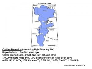 Ogallala Formation containing High Plains Aquifer Deposited over
