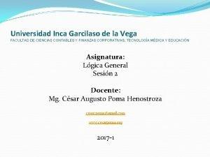 Universidad Inca Garcilaso de la Vega FACULTAD DE