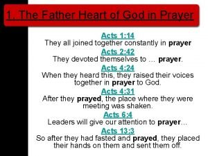 1 The Father Heart of God in Prayer