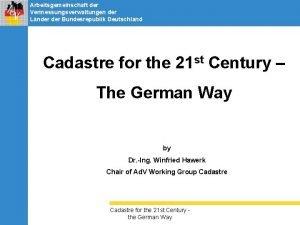 Arbeitsgemeinschaft der Vermessungsverwaltungen der Lnder Bundesrepublik Deutschland Cadastre