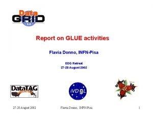 Report on GLUE activities Flavia Donno INFNPisa EDG