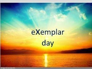 exemplar day Edge Hill University 2013 Exemplar day