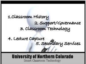 1 Classroom History 2 SupportGovernance 3 Classroom Technology