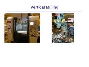 Vertical Milling Doing Vertical Milling Select stock material