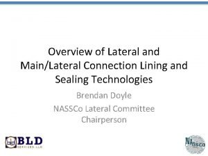 Overview of Lateral and MainLateral Connection Lining and
