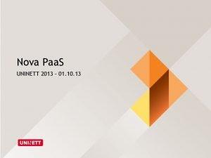Nova Paa S UNINETT 2013 01 10 13