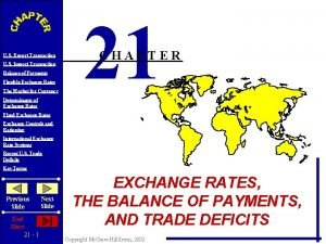 U S Export Transaction U S Import Transaction