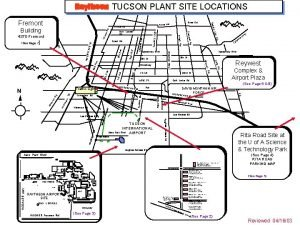 TUCSON PLANT SITE LOCATIONS d cle R Kino
