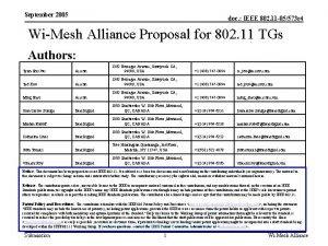 September 2005 doc IEEE 802 11 05573 r