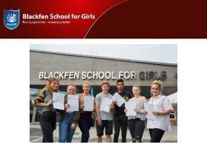 BLACKFEN SIXTH FORM YEAR 12 PARENT INFORMATION EVENING