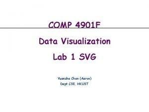 COMP 4901 F Data Visualization Lab 1 SVG