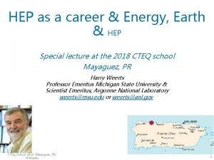 HEP as a career Energy Earth HEP Special