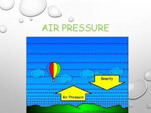 AIR PRESSURE AIR PRESSURE AIR PRESSURE MEASURE OF