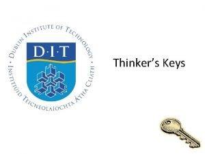 Thinkers Keys Thinking Creatively Thinkers Keys The Thinkers