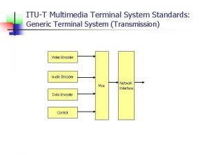 ITUT Multimedia Terminal System Standards Generic Terminal System