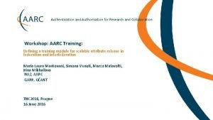Authentication and Authorisation for Research and Collaboration Workshop
